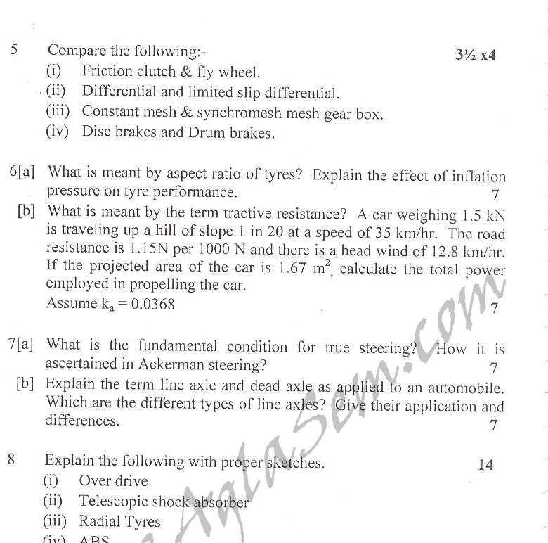 DTU Question Papers 2010 – 8 Semester - End Sem - ME-412
