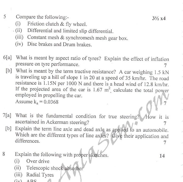 DTU Question Papers 2010 – 8 Semester - End Sem - ME-412