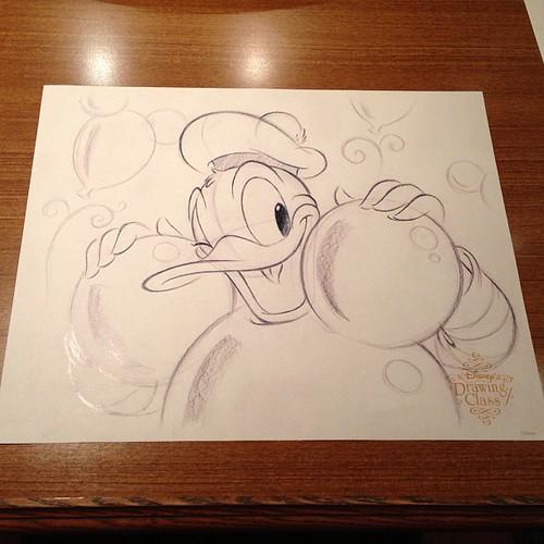 こちらは通常コースのドナルド。佐藤征作さんのアートだそうです。