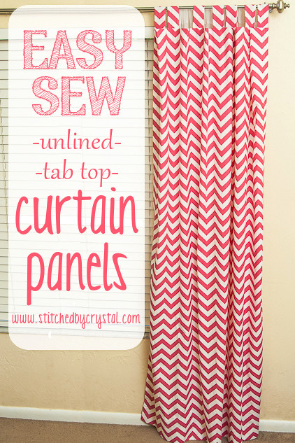 Stitched By Crystal Tutorial Easy Sew Curtains