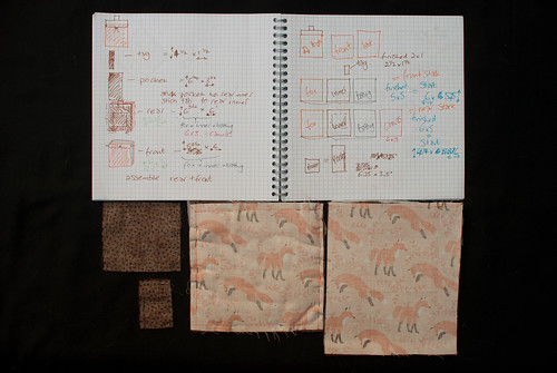 Pinned fabrics with measured plans