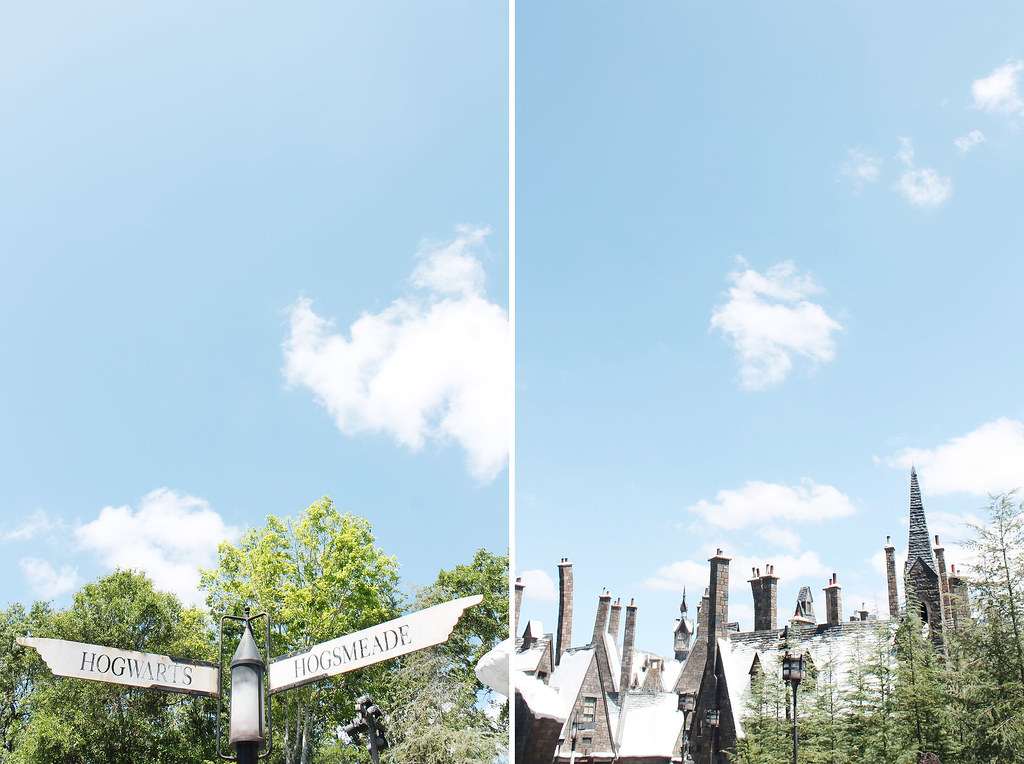 hogwarts and hogsmeade sign