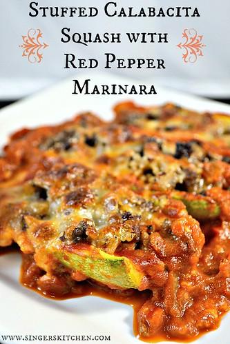 Stuffed Calabacita Squash with Red Pepper Marinara 6