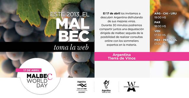 Día del Malbec, degustaciones en la web
