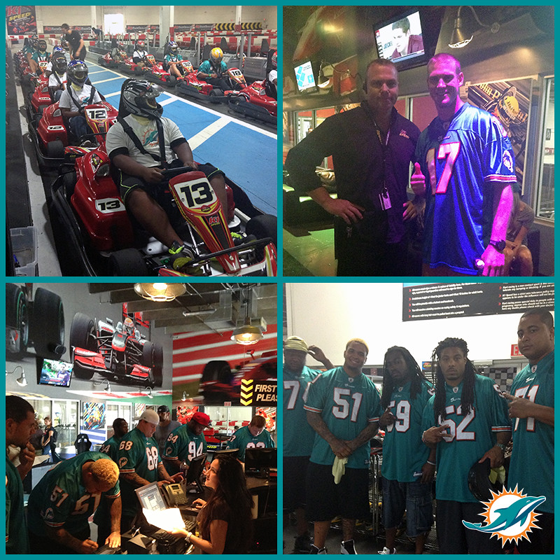 8656739990 9c1890dce4 b Miami Dolphins visit K1 Speed with Foster Kids
