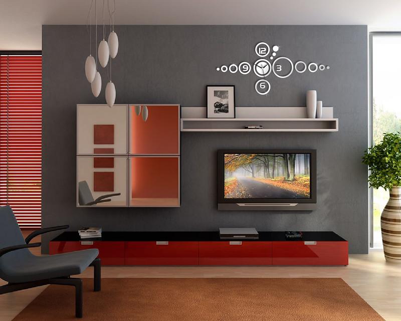 Horloge murale moderne cadeau d coration pr sent miroir for Miroir 40x70