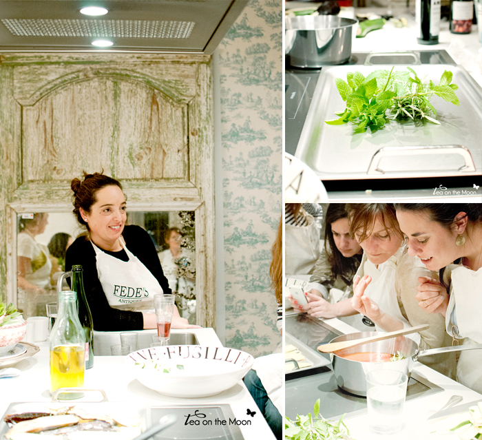 Federica and co - Madrid - Tea on the moon mosaico taller cocina