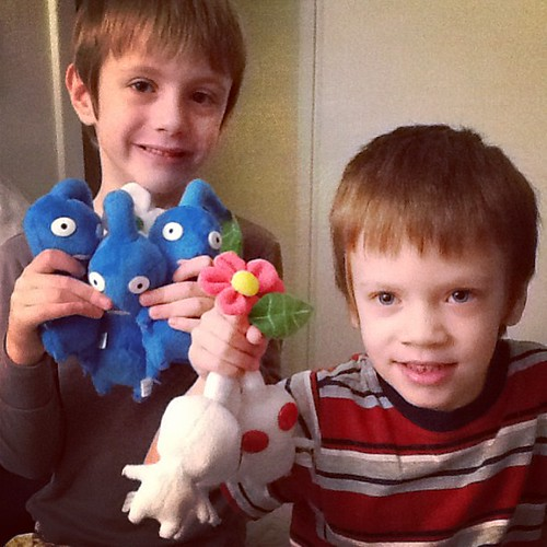 Big 5 years olds with their presents. Hiya!