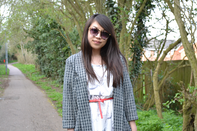 daisybutter - UK Style and Fashion Blog: what i wore, fashion blogger, asos, smock dress, ankle boots, miss selfridge, SS13