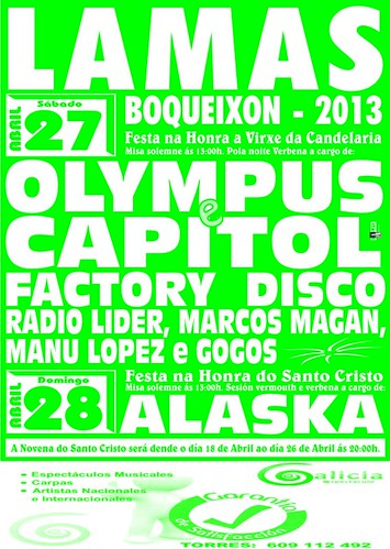 Boqueixón 2013 - Festas da Candelaria en Lamas - cartel