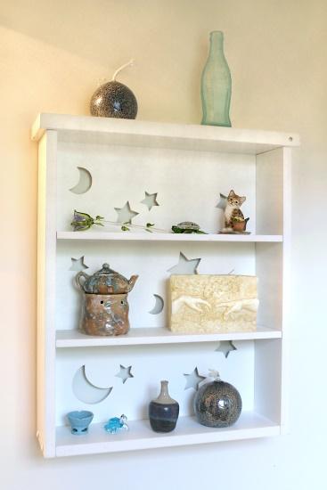 Fabric Lined Shelf, 1
