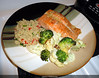 Salmon w/Orzo and Grilled Veggies