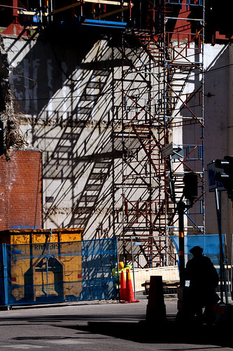 Scaffolding and shadows