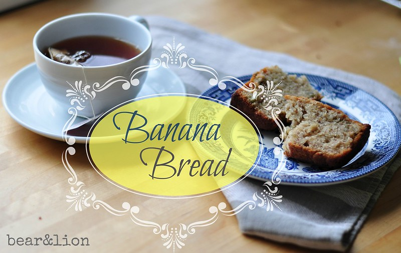 banana bread, baking