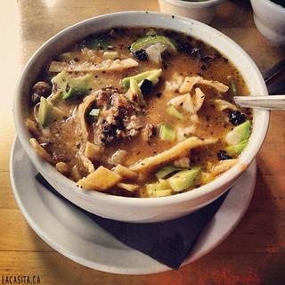 Me encanta la sopa de tortilla la casita mexican tortilla soup love gastown yvr