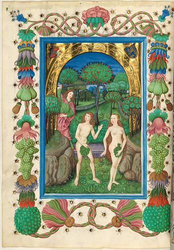 008-Expulsion del Paraiso-Misal de Salzburgo-1499-Tomo 2 -Biblioteca Estatal de Baviera (BSB)