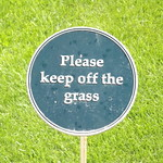 National Memorial Arboretum - Armed Forces Memorial - sign - Please keep off the grass