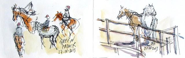 Doble pagina con caballos