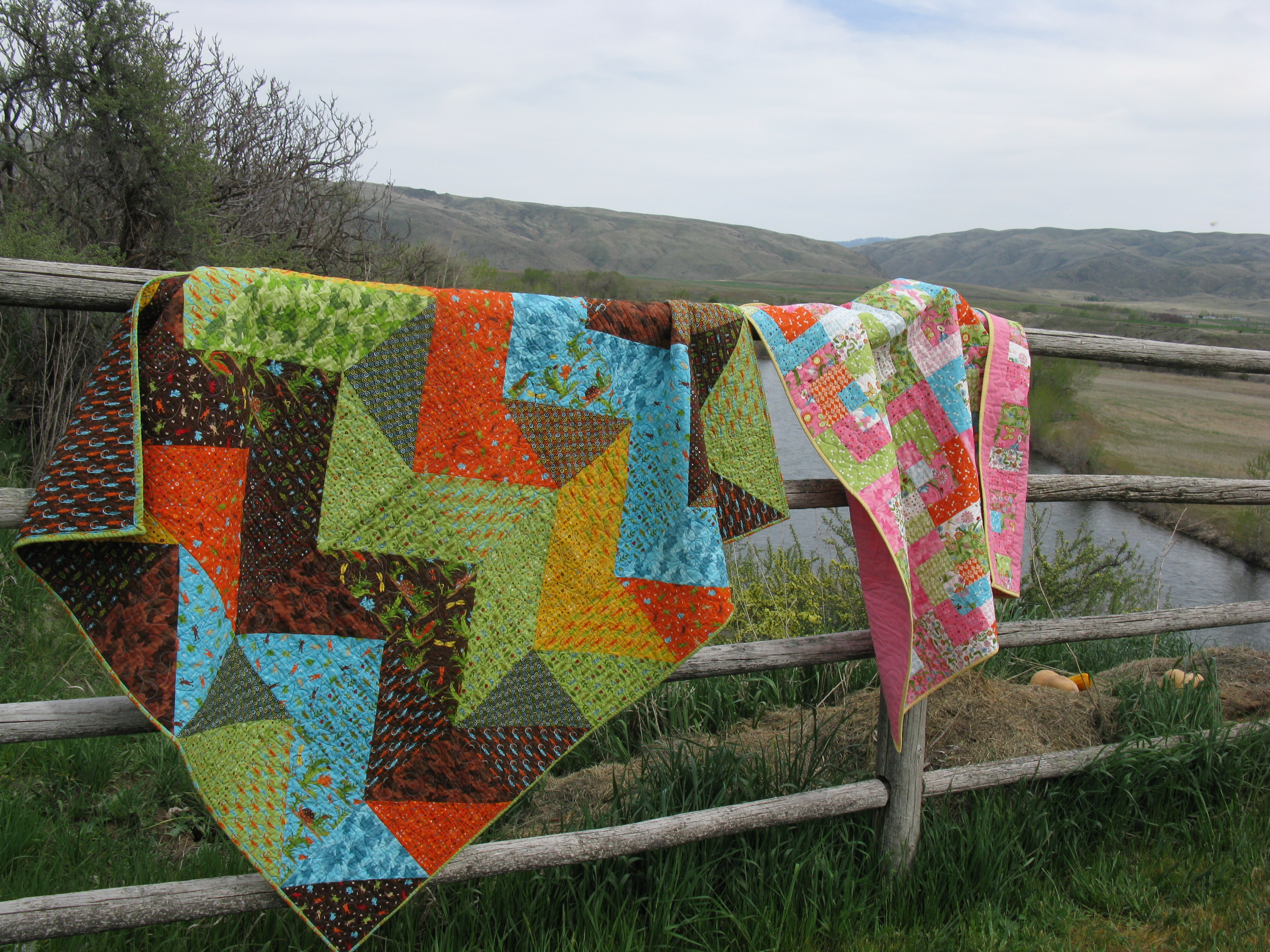 Quilts on a fence