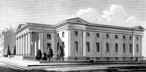 Second Philadelphia Mint architect's drawing
