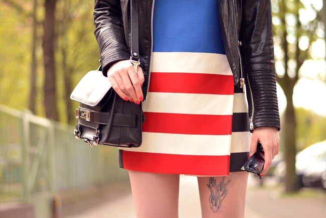 ACNE skirt as dress SET leather jacket blog outfit 3