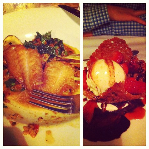And the terrible photography of the DELICIOUS food continues...
