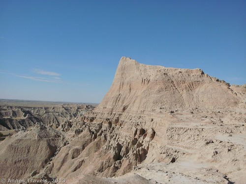 The butte we climbed from Saddle Pass, Badlands National Park, South Dakota