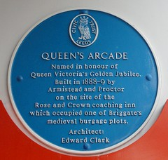 Photo of Edward Clark and Rose and Crown, Leeds blue plaque