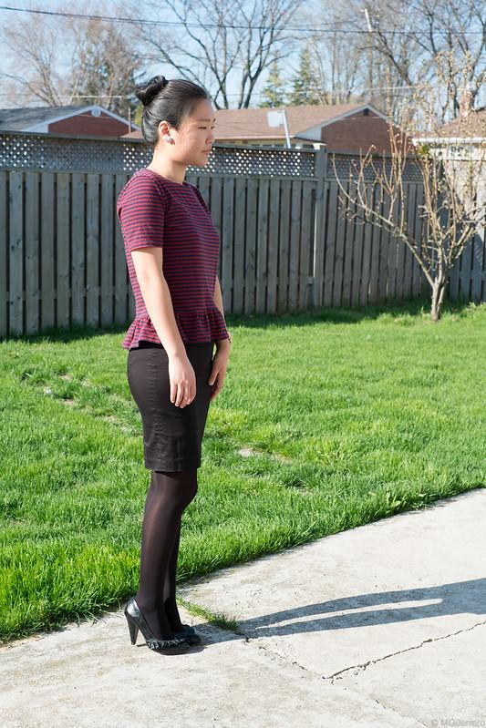 peplum top pencil skirt