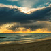 Sunset in the Barrosa's Beach by  José Antonio Jiménez 