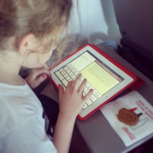 Addie wrote her first blog post on the plane. Direct result of #AddieInNYC