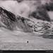 Lone climber, mount Everest, Tibet