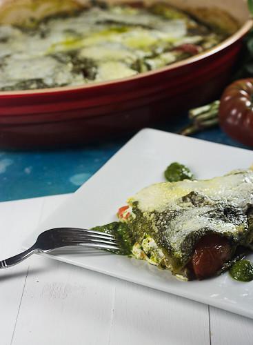 Heirloom Tomato & Spinach Basil Pesto Lasagna