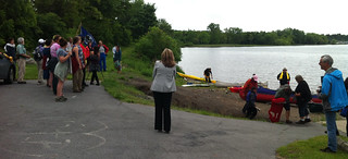 President of Wells College welcomes paddlers and walkers