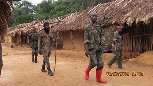 military in an empty Obenge