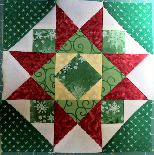 Jingle pieced block 8