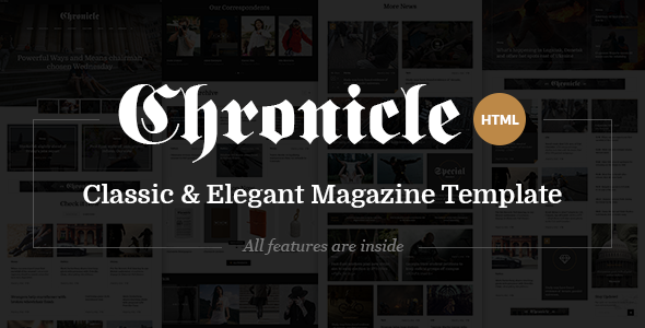 Chronicle - Premium News and Magazine HTML5 Template