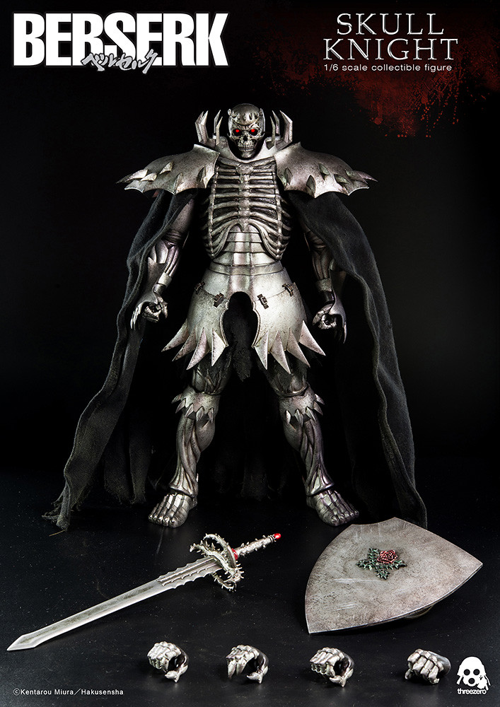 神秘的劍士現身!threeZero 《烙印勇士》1/6 比例 髑髏騎士 ベルセルク 髑髏の騎士 (Skull Knight)