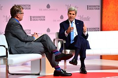 U.S. Secretary of State John Kerry participates in the 8th annual Washington Ideas Forum presented by The Atlantic and Aspen Institute, at the Harman Center of Arts in Washington, D.C. on September 29, 2016. [State Department Photo/ Public Domain]