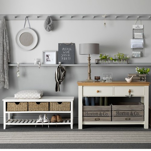 Grey Hallway Table & Bench