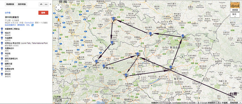 Google路線圖