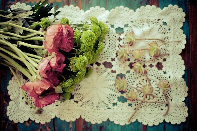 DIY bouquet de fleurs et plantes grasses