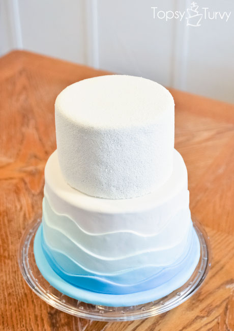Nonpareil Amp Fondant Waves Cake Pool Party Ashlee Marie
