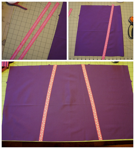 skirt ribbon applique