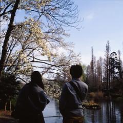 初春の池端