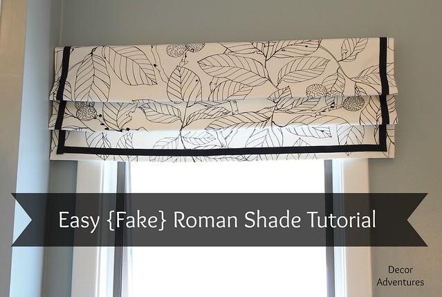 How To Sew A Roman Shade Easy Roman Shade Fake Roman Shade