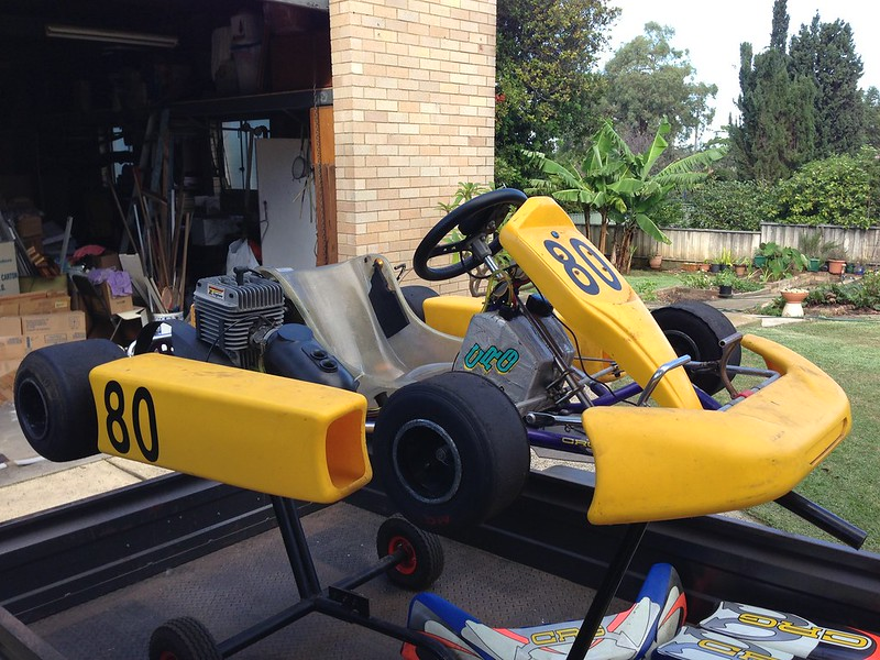 Laptimer 2000 >> CRG clubman + mychron + 9 x 5 trailer + trolley + pusher etc etc first $1500 owns it. Pickup ...