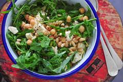 chickpea feta & pinenut salad