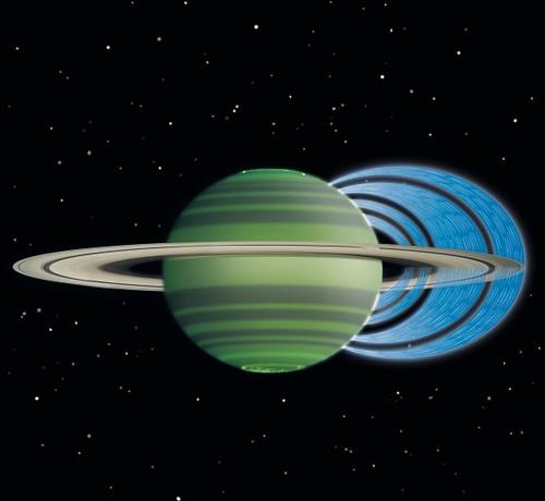 Pioggia su Saturno