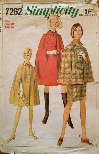 Simplicity vintage sewing pattern capes